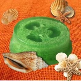 Glycerínové mydlo s lufou a vôňou morská riasa