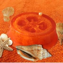 Glycerínové mydlo s lufou a vôňou pomaranč